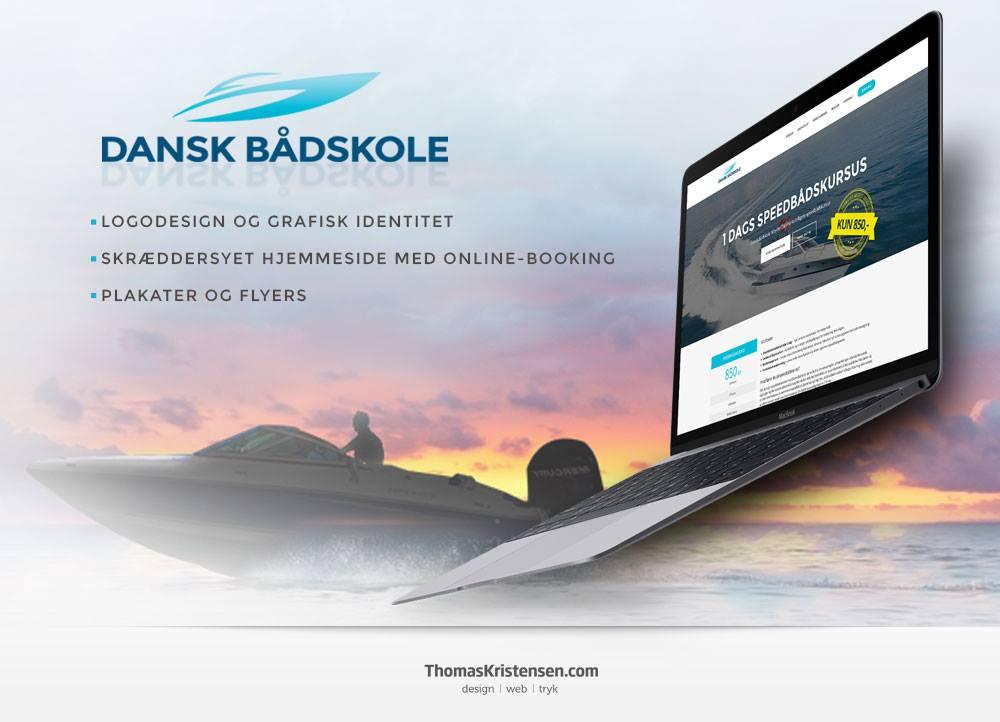Dansk Baadskoles hjemmeside er designet og udviklet i 2016 af ThomasKristensen.com