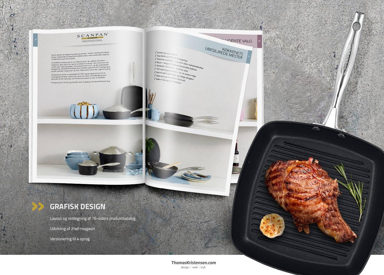 Netop nu er Scanpans store produktkatalog blevet færdiggjort – layoutet og rentegnet af ThomasKristensen.com.