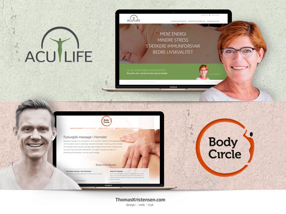 Webdesign reference – www.aculife.dk og www.bodycircle.dk