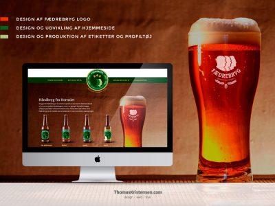 Webdesign reference – www.fædrebryg.dk