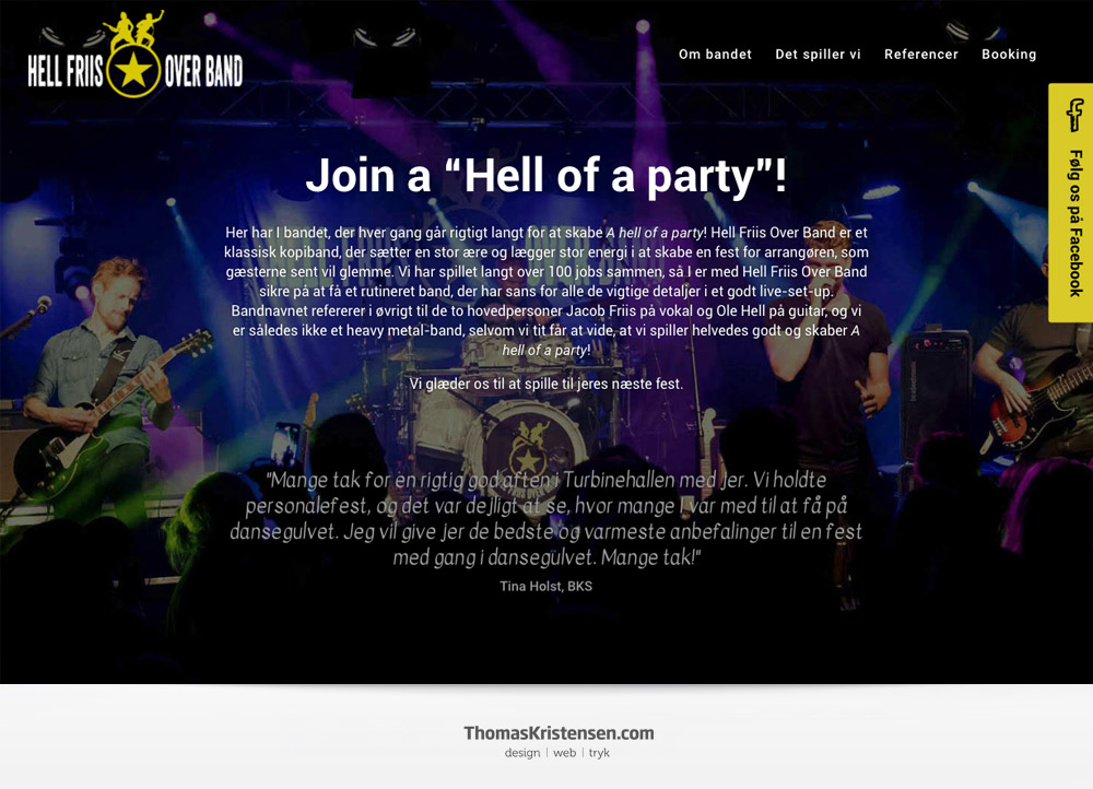 Webdesign reference – www.hellfriisoverband.dk