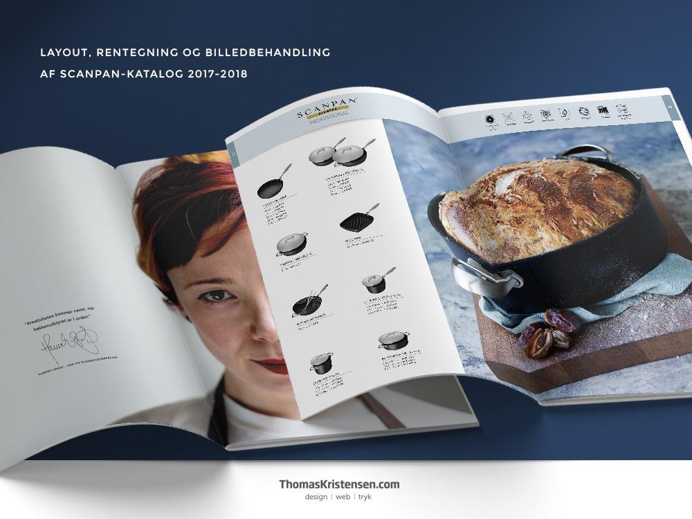 Brochure design, layout af Scanpan katalog