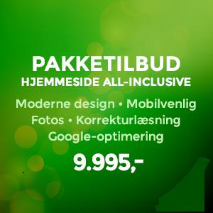 Webdesign pakketilbud