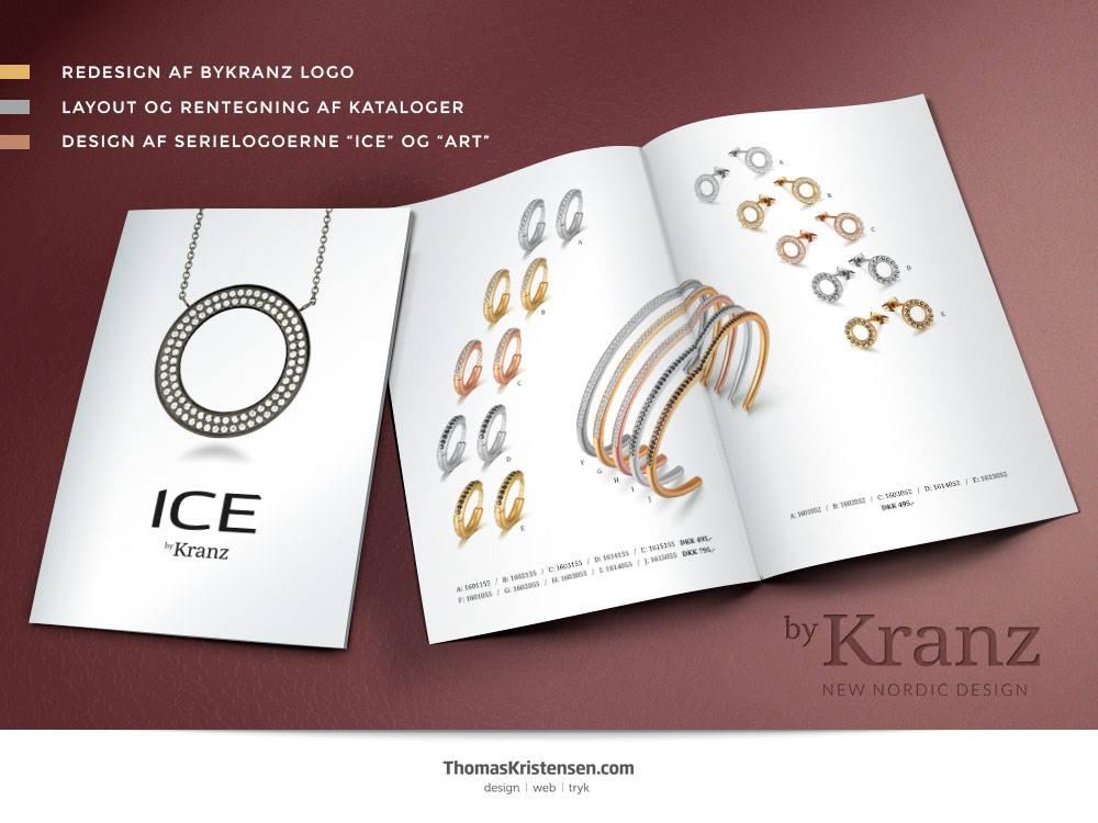 Find byKranz-smykkerne hos din lokale forhandler, hvor du også kan få fingrene i de nye brochurer – layoutet og produceret af ThomasKristensen.com.